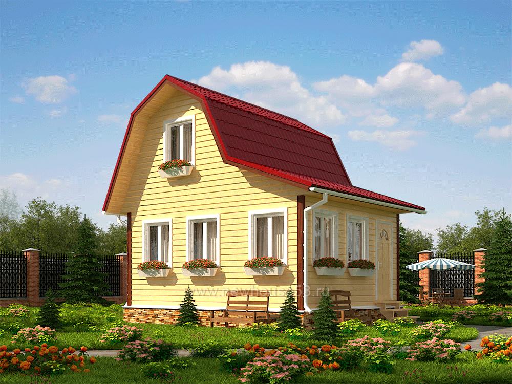 Дом из профилированного бруса 6х5м