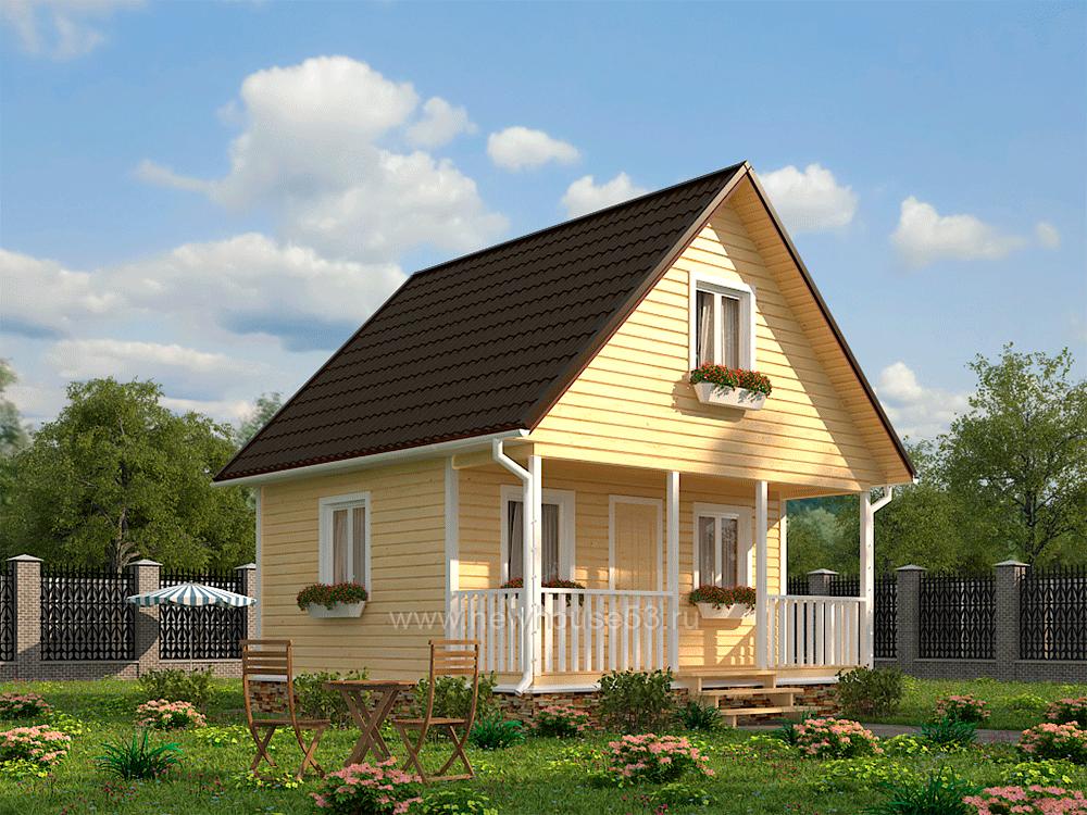 Строительство домов из бруса 6х6м