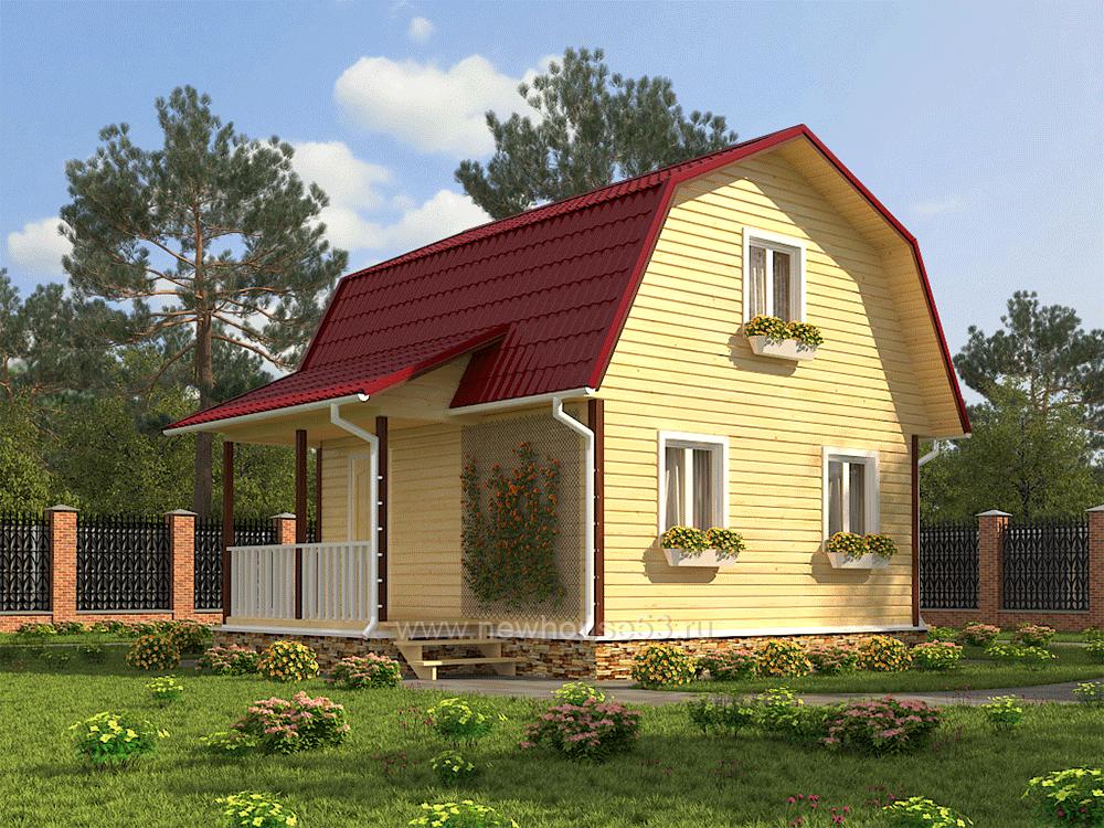 Дома из бруса под ключ проекты 6х6