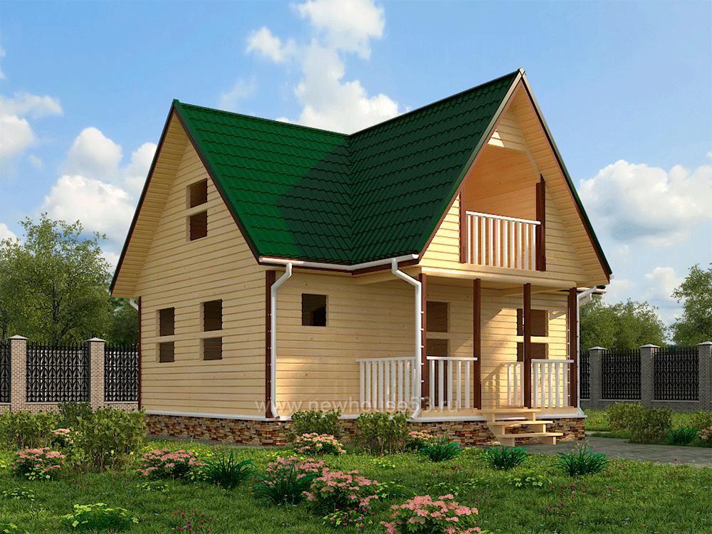 Купить дом из бруса 8х8м