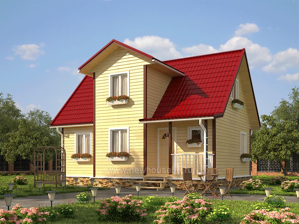 Построить дом из бруса 7,5х9 м