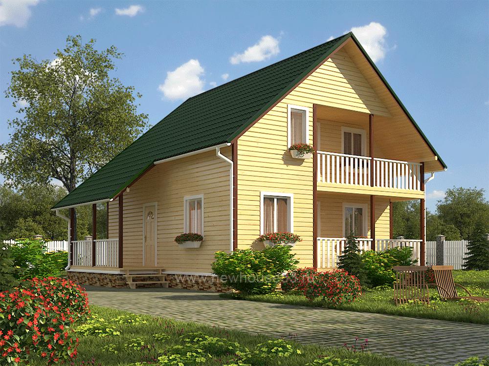 Строим дом из бруса проект 9х9