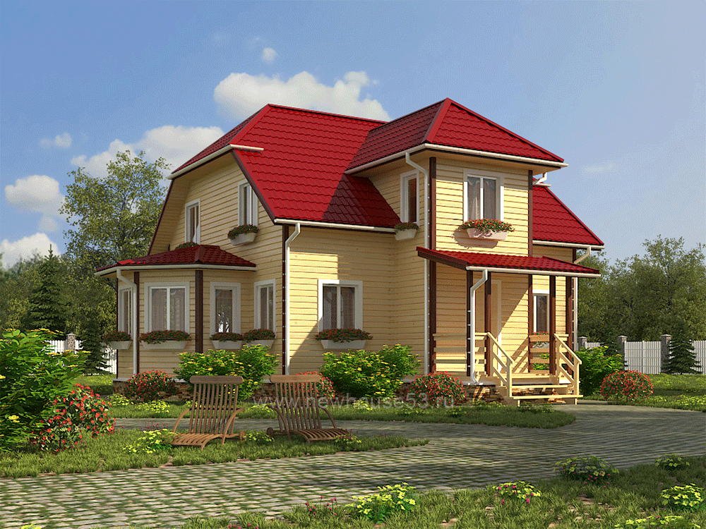 Дом из бруса проект Д-31