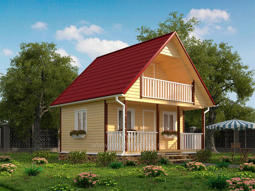 Дом из бруса 6х6м проекты и цены