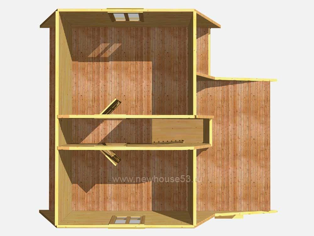Дом из сруба под ключ цена