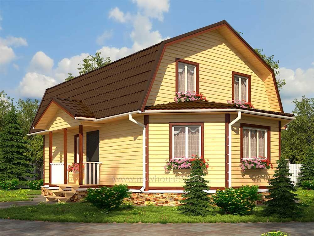 Дом из бруса 7х11м