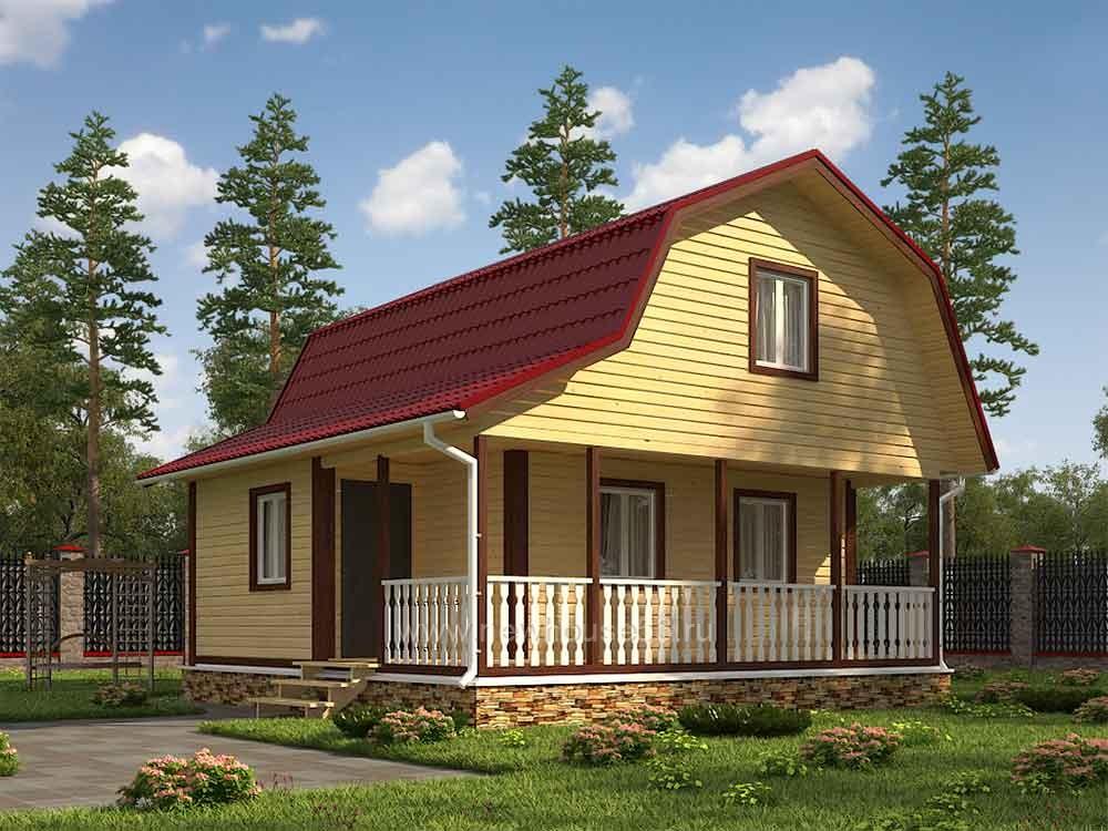 Дом из бруса 7.5х7.5м