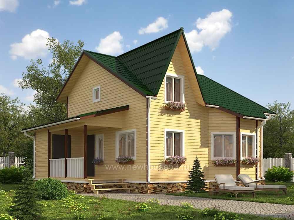 Дом из бруса 8х8м