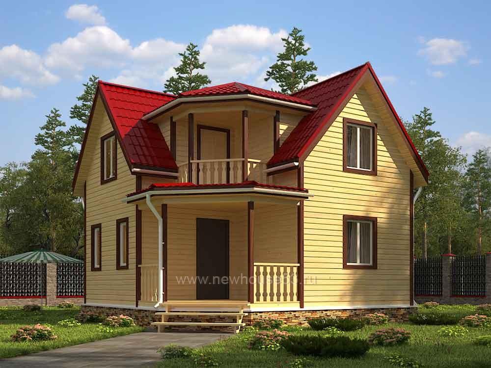Дом из бруса 7х7м