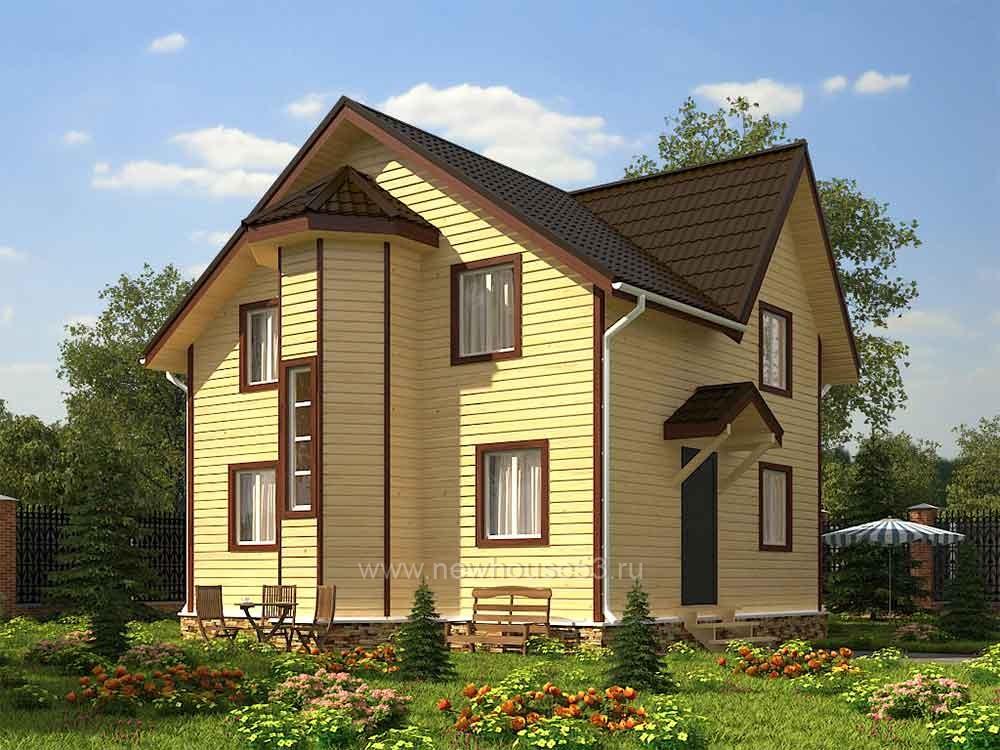 Двухэтажный дом из бруса под ключ