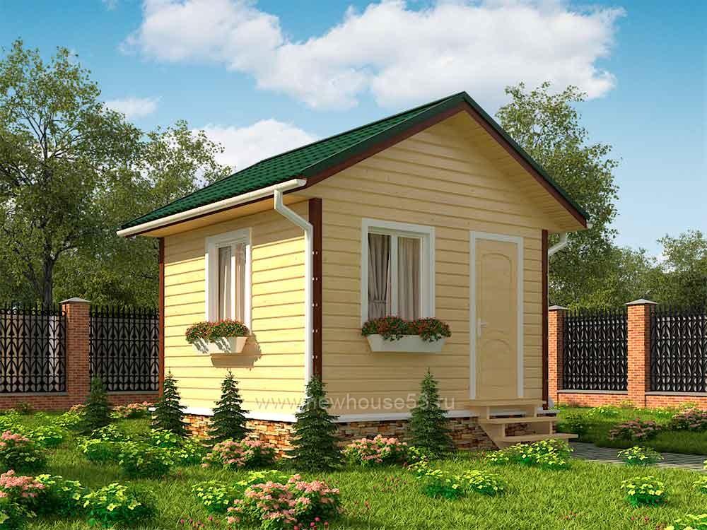 Каркасный дом 4x4м