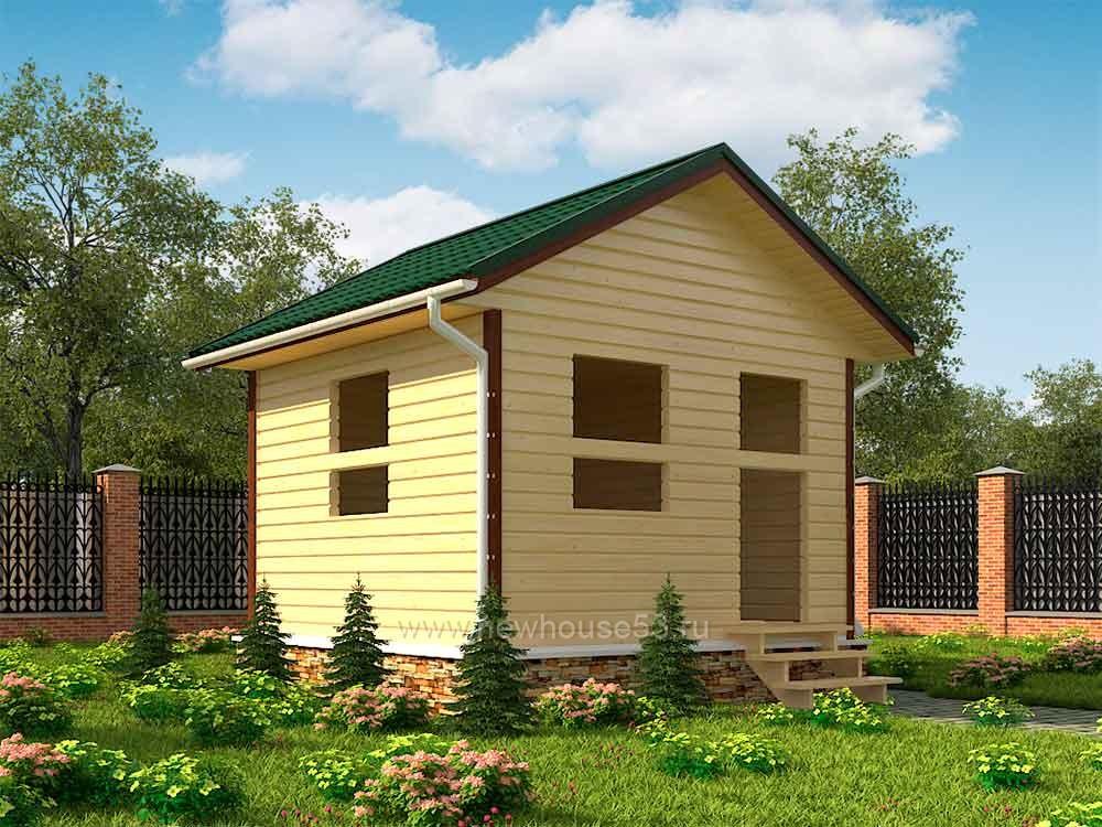 Одноэтажный каркасный дом под ключ