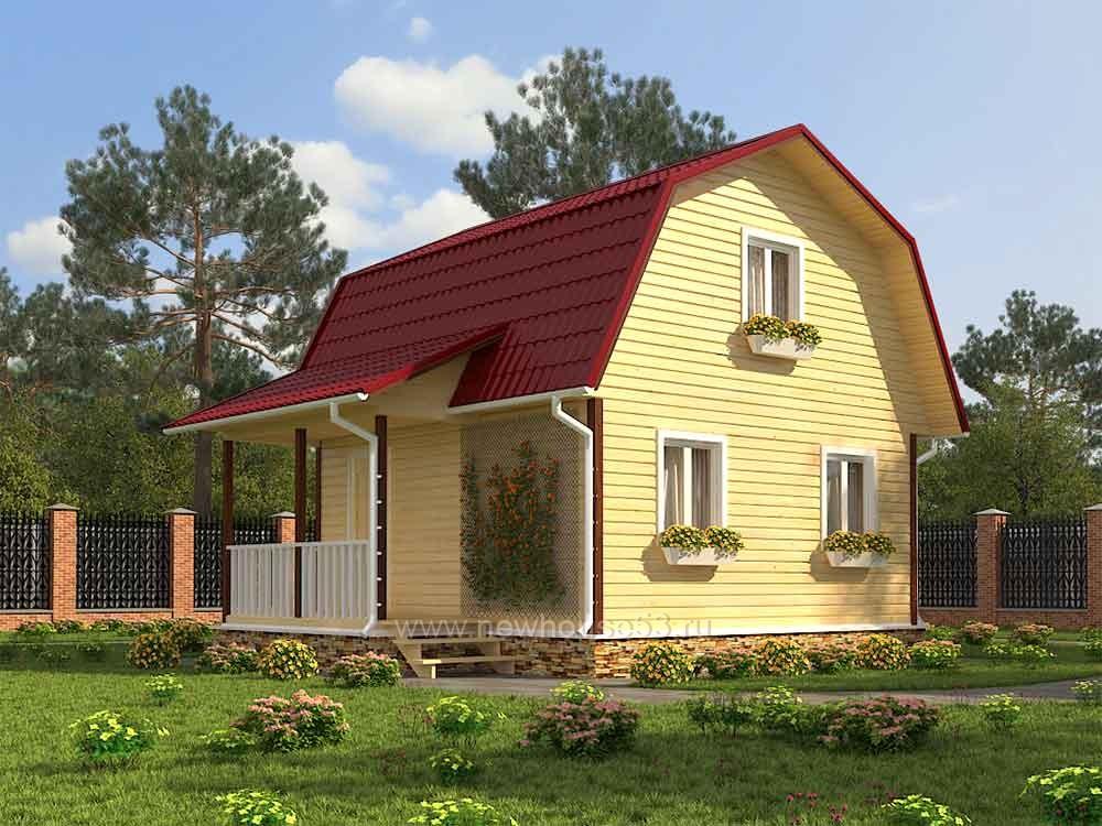 Каркасный дом 6 на 6 под ключ