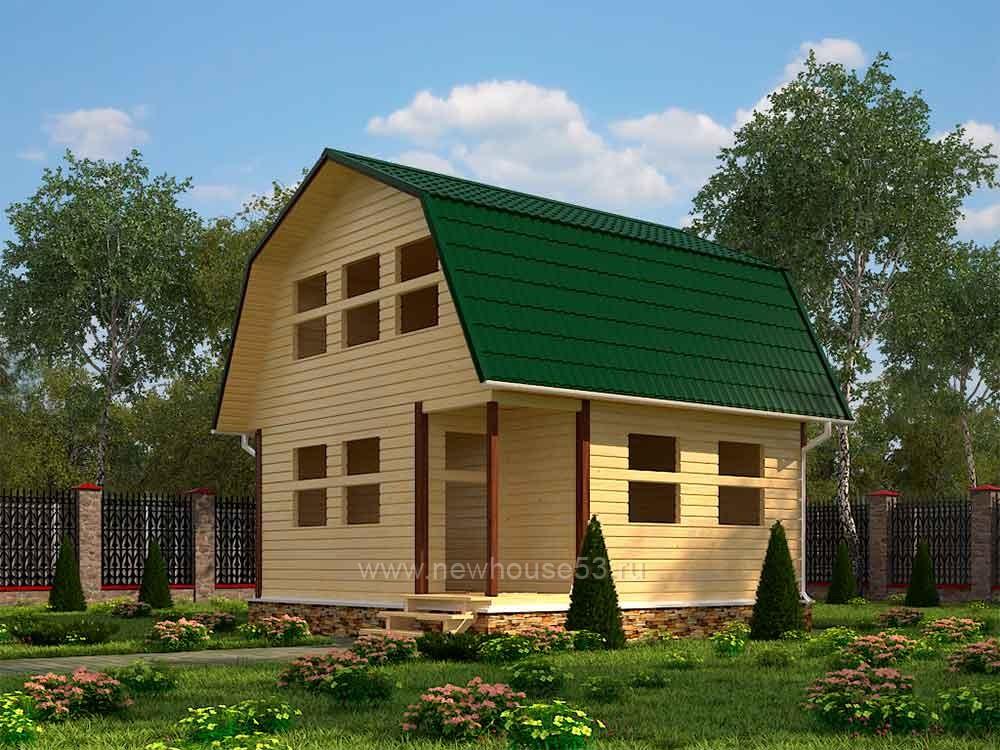 Купить каркасный дом 6 на 6