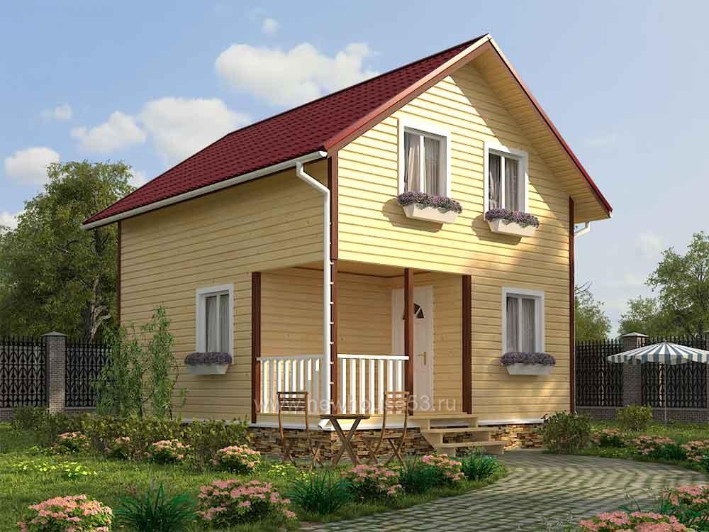 Каркасный дом 6х7м