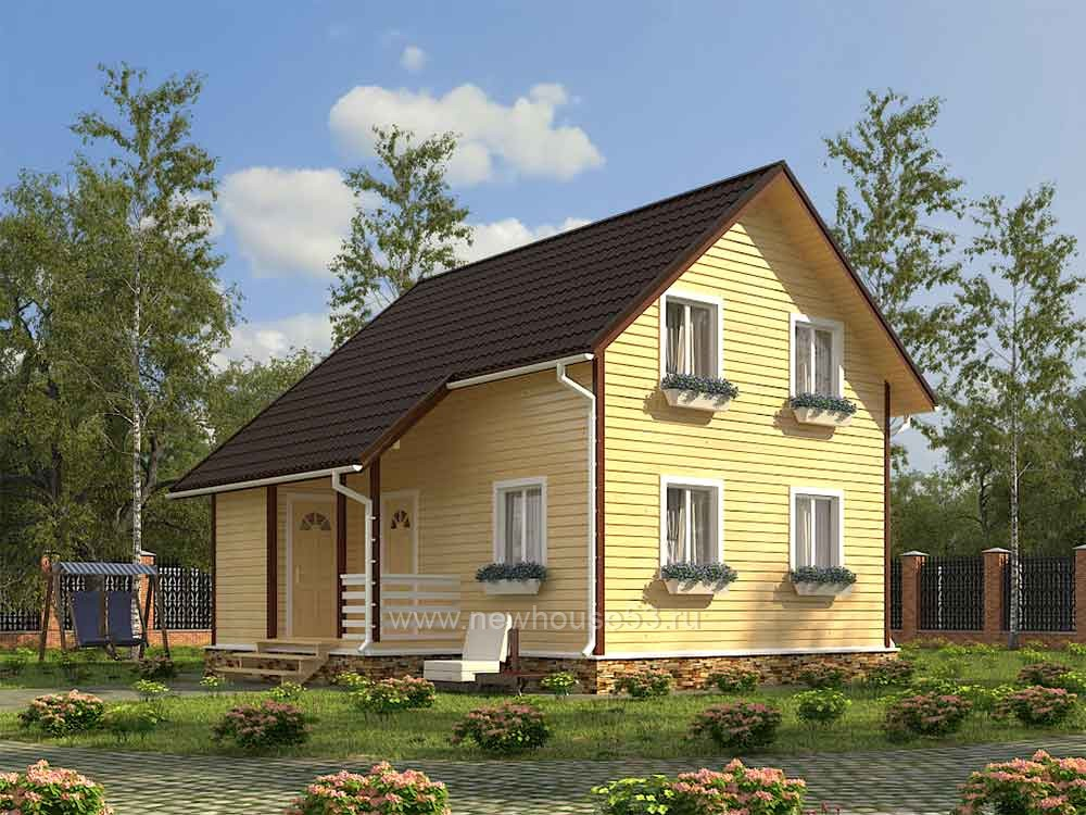 Каркасный дома 7.5х8м