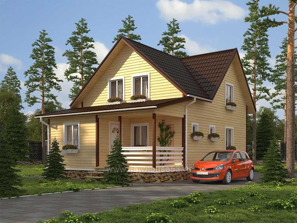 Каркасный дом - проект Д-24 - хит продаж