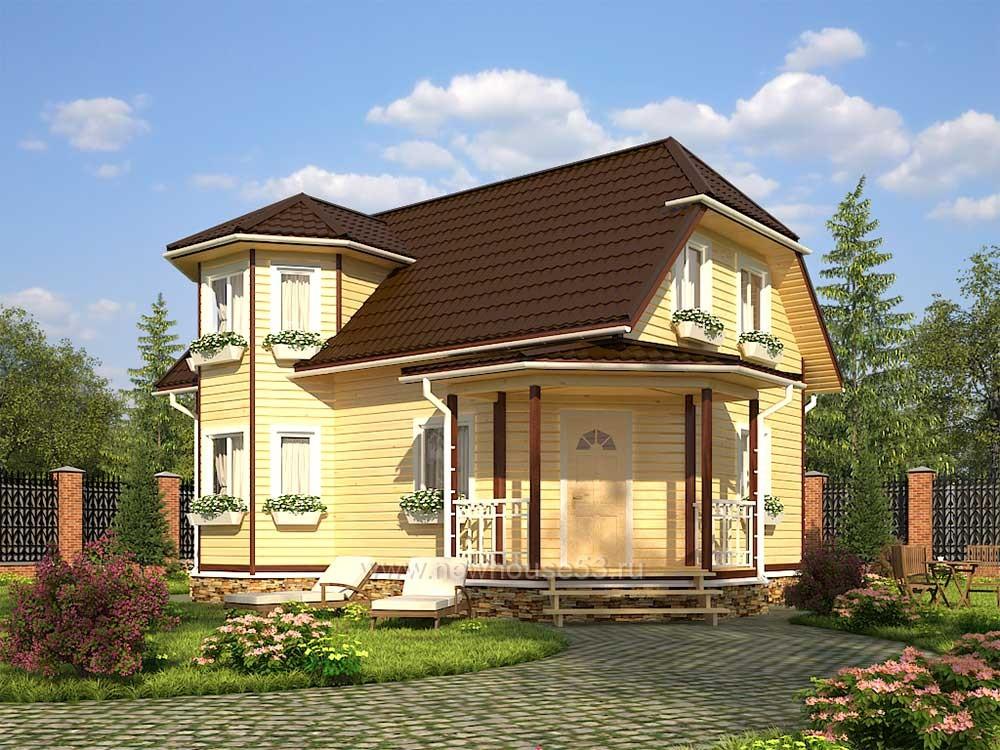 Каркасный дом 7х10м