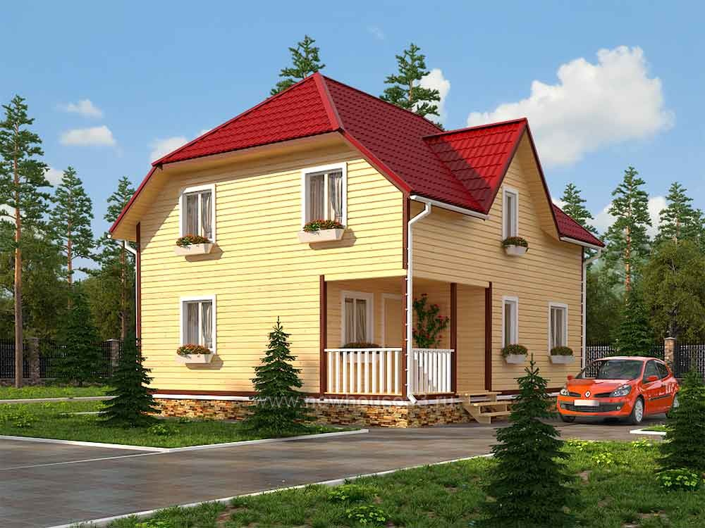 Каркасный дом под ключ 8х9м