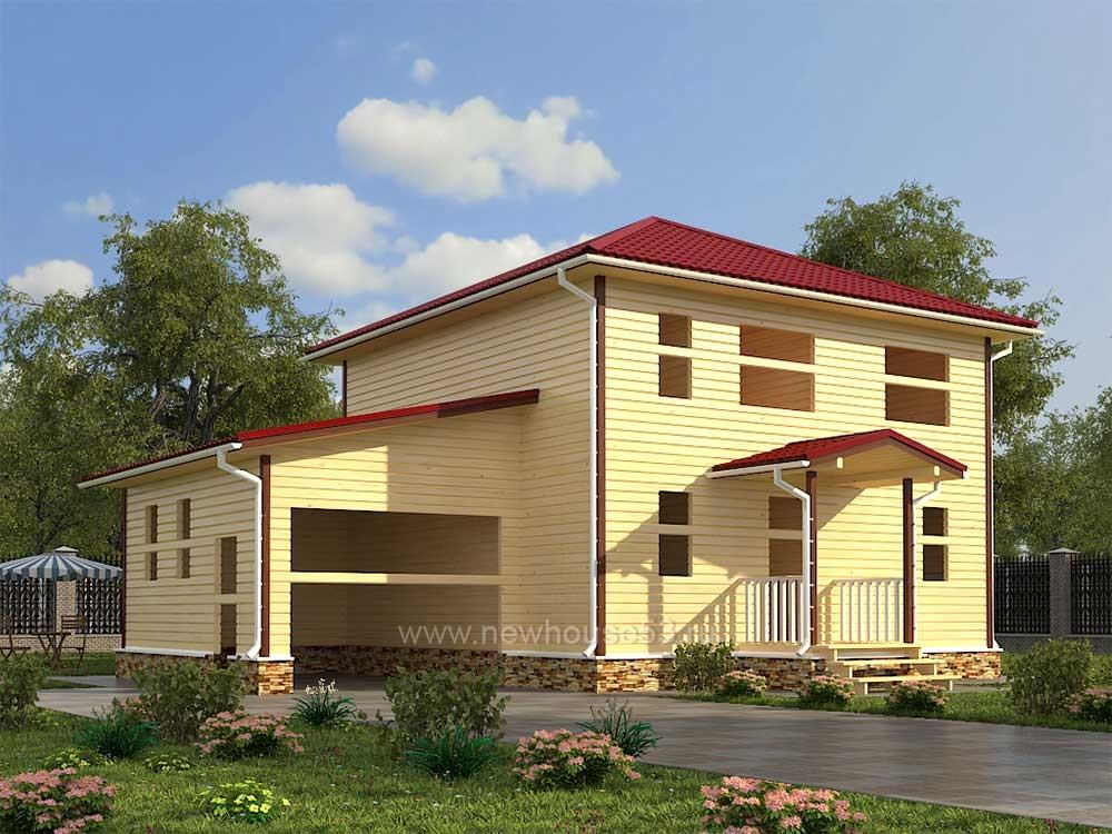 Большой каркасный дом
