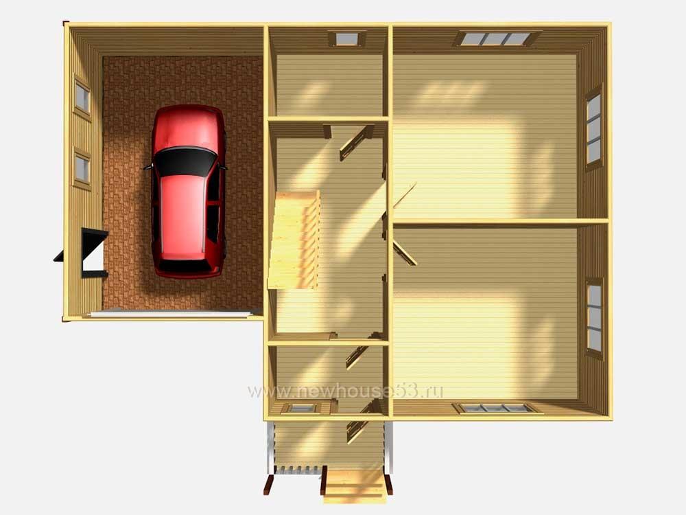Проекты каркасных двухэтажных домов с гаражом