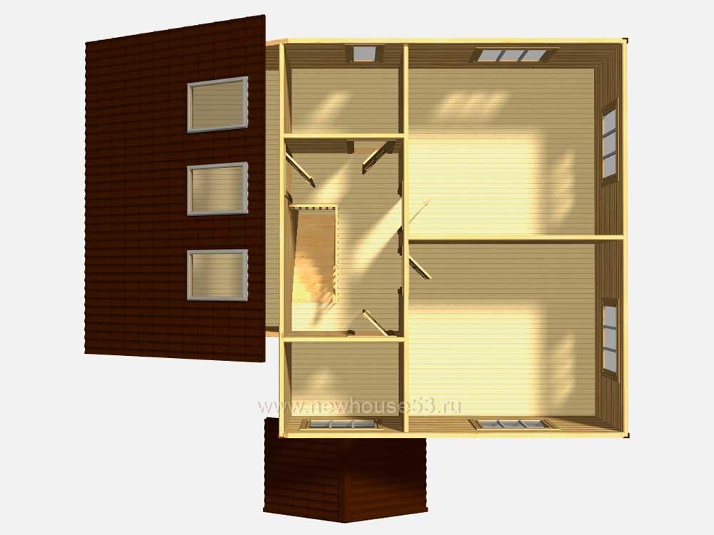 Каркасные дома с гаражом проекты фото