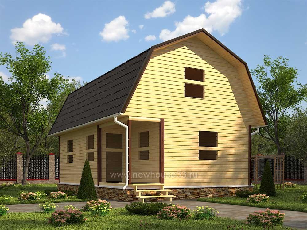 Купить каркасный дачный дом под ключ