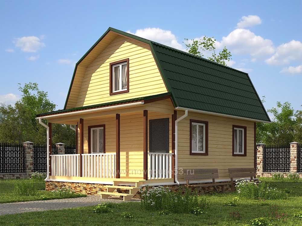 Каркасный дома под ключ 6х7,5м