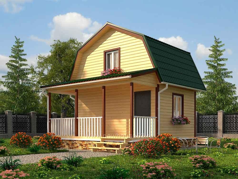 Каркасный дом 6х6 м