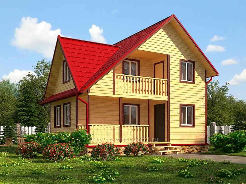 Каркасный дом 8х8м