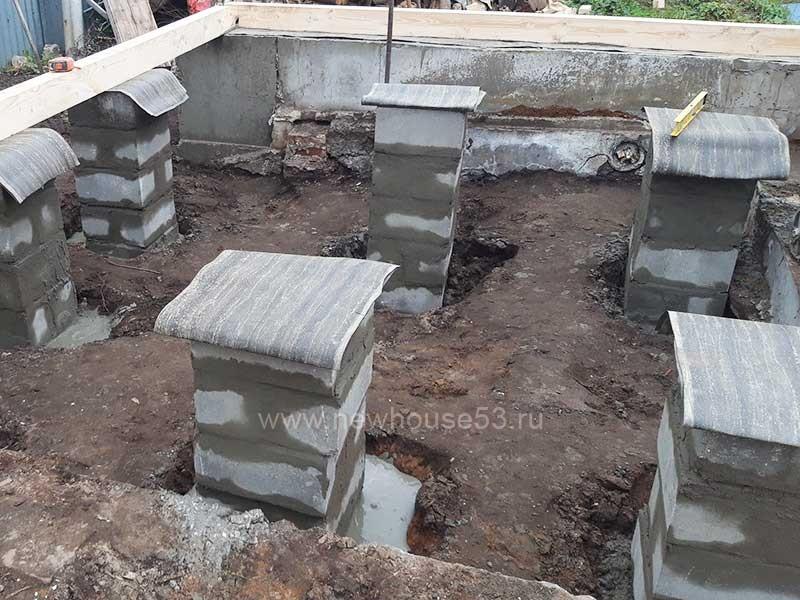 Фундамент для бани из бруса под ключ