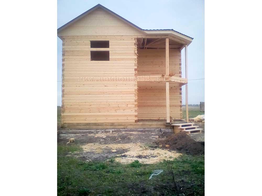 Дом из бруса под усадку в Орловской области