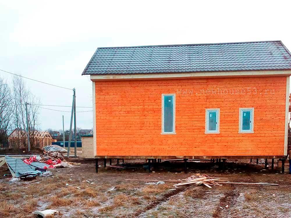 Каркасный дом 8х10м в Ленинградской обл.