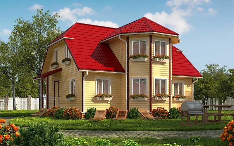 Лучшие проекты домов из бруса