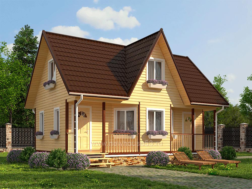 Дома из профилированного бруса с размерами 6 на 9 метров – назначение, особенности, возможности