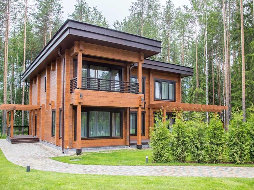 Строительство дома из профилированного бруса от производителя