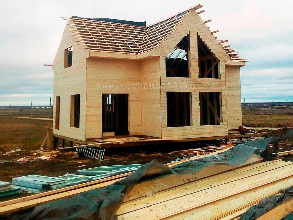 Усадка дома из профилированного бруса