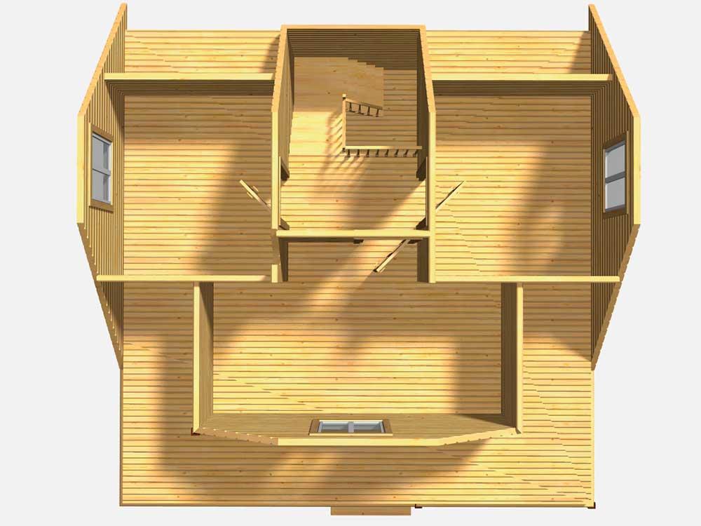 Каркасный дом 8 на 8. Проект Д-22