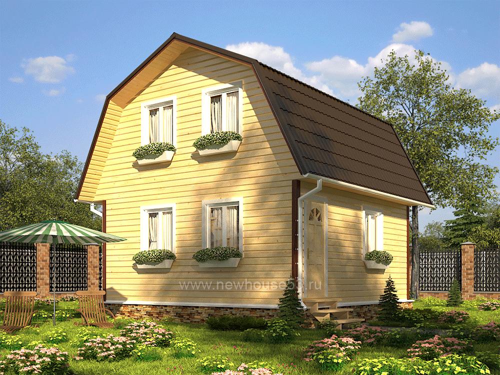 Дома из бруса для постоянного проживания 6х6