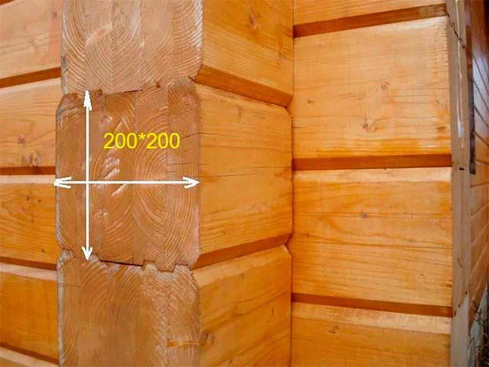 Дом из профилированного бруса 200 на 200