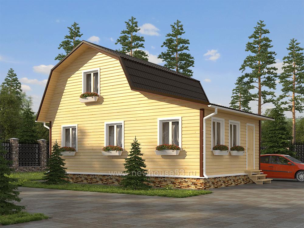 Проекты домов из бруса 6х9 цена под ключ