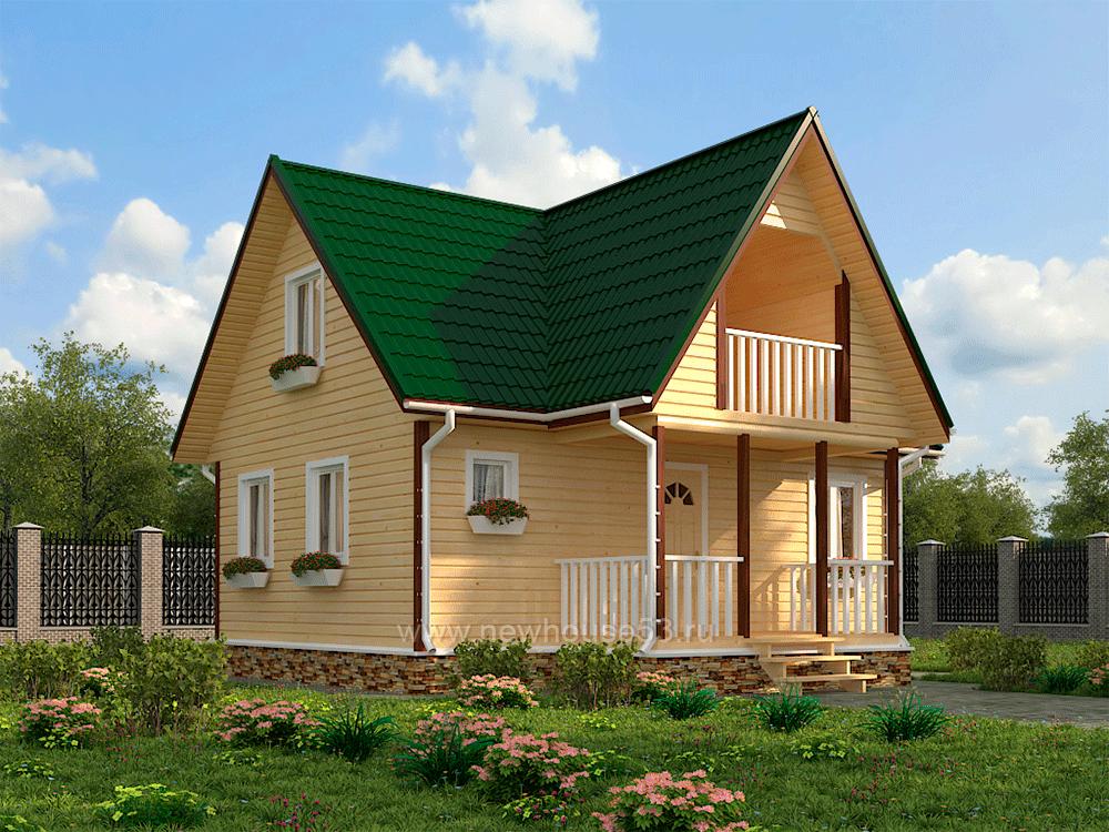 Купить дом из бруса 8х8м - проект дома