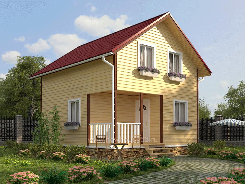 Дом из бруса 6х7м