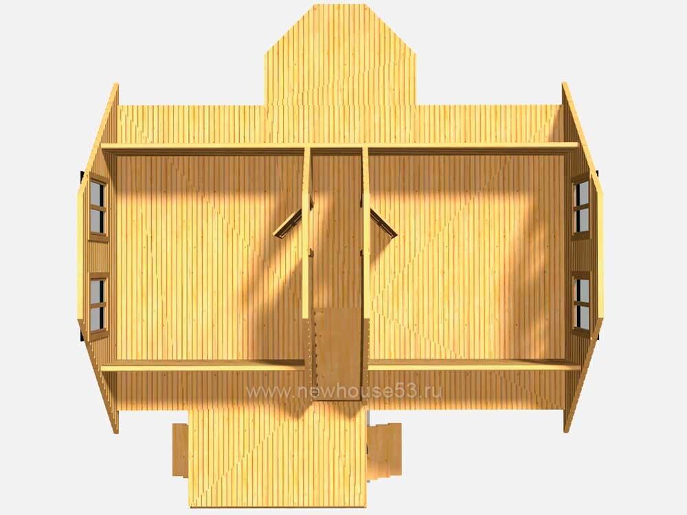 Фото деревянных домов из бруса внутри
