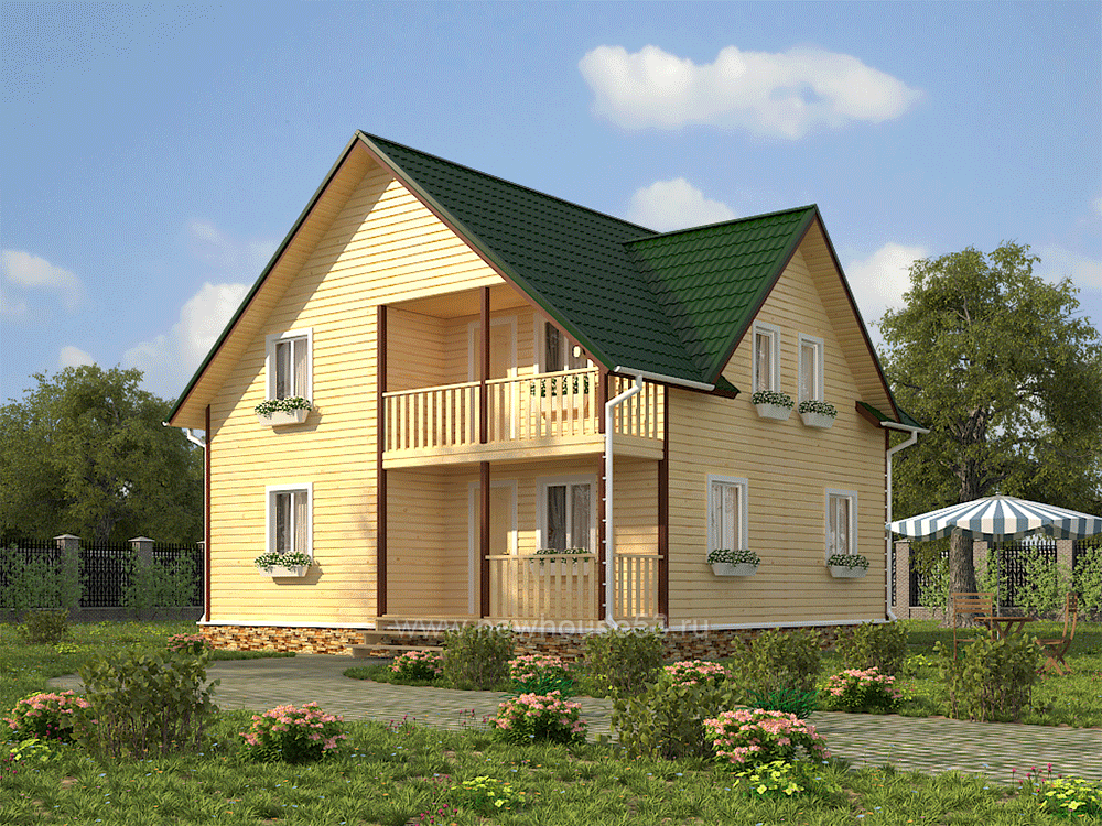Дом из бруса проект Д-32
