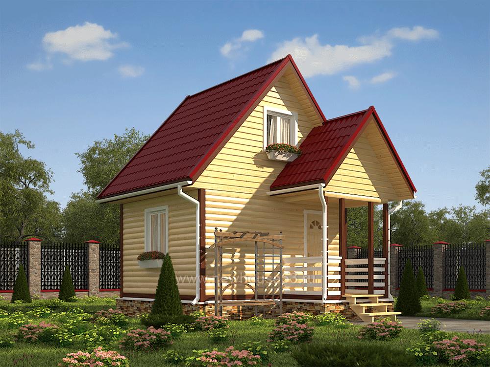 Дом из бруса 5х4 цены, фото