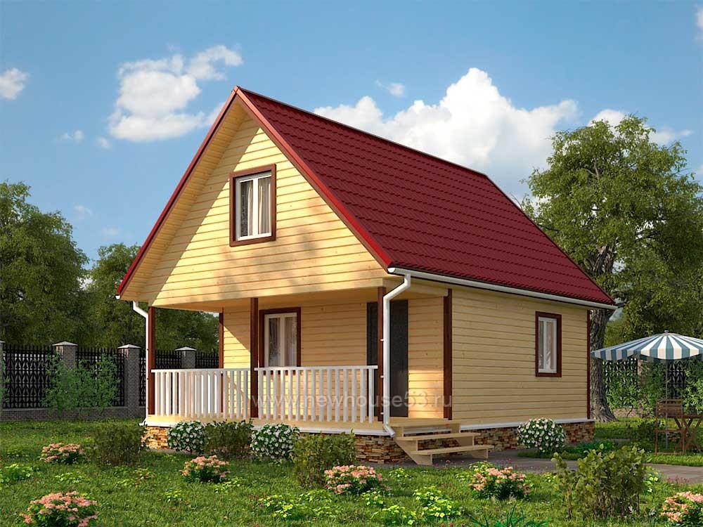 строим дом из профилированного бруса