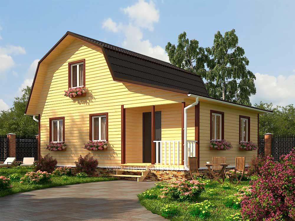 Дом из бруса 7х9м