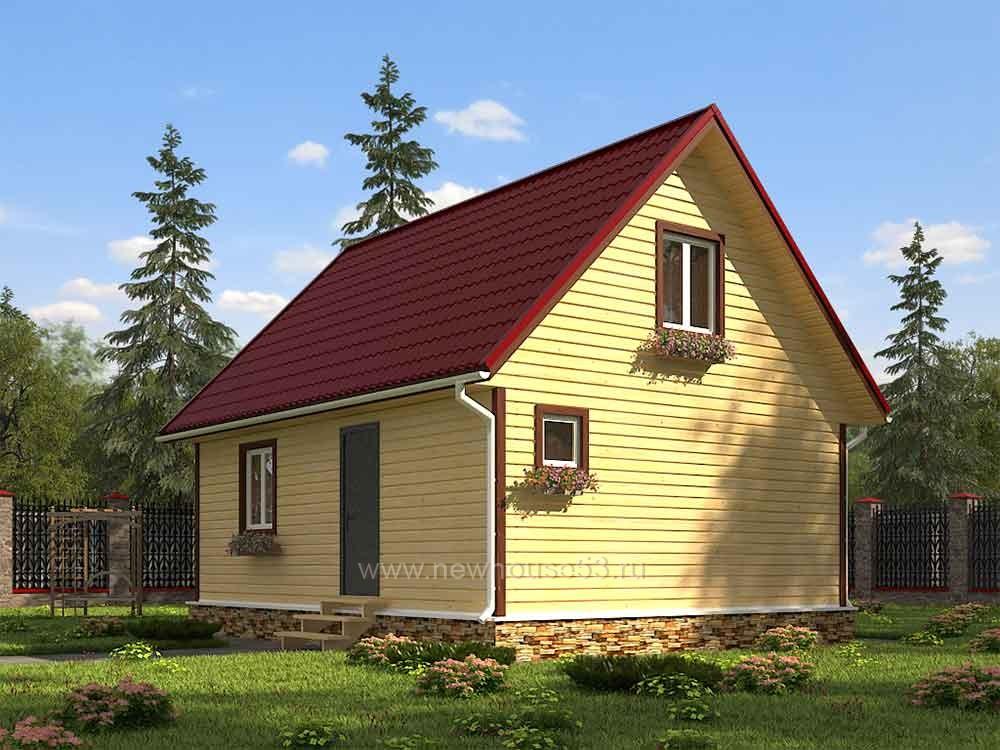 Дом из бруса 6х8м