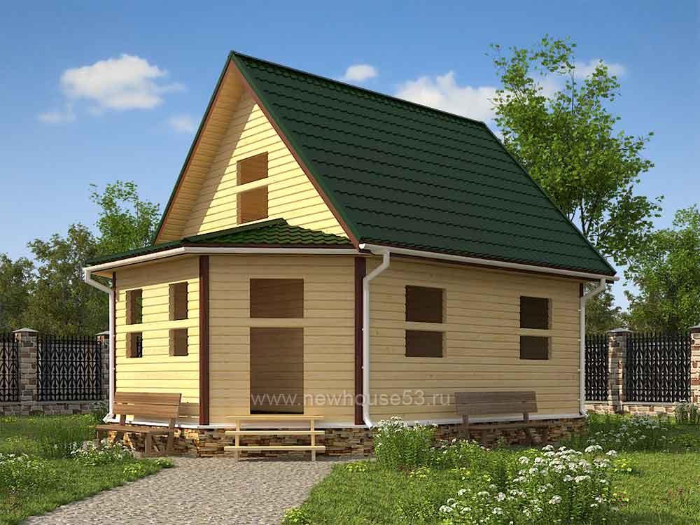 Дачные дома из бруса ценым
